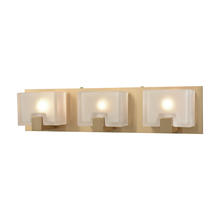 ELK Lighting 11972/3 - Ridgecrest 3-Light Vanity Sconce in Satin Brass with Frosted Cast Glass